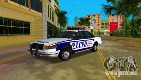 GTA IV Police Cruiser pour GTA Vice City sur la vue arrière gauche