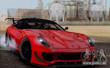 Ferrari 599XX Evolution für GTA San Andreas Innenansicht