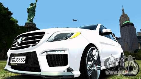 Mercedes-Benz ML63 AMG pour GTA 4 Vue arrière de la gauche