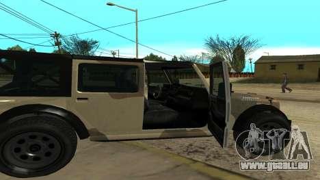 Crusader GTA 5 pour GTA San Andreas sur la vue arrière gauche