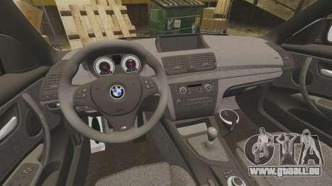 BMW 1M 2014 pour GTA 4 est une vue de l'intérieur