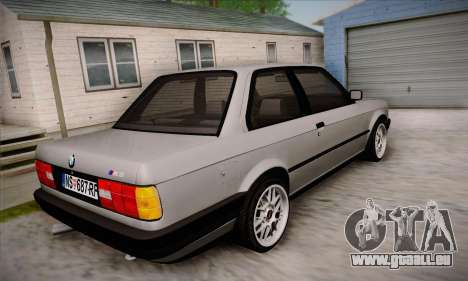 BMW M3 E30 pour GTA San Andreas vue de dessus