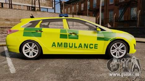 Hyundai i40 Tourer [ELS] London Ambulance für GTA 4 linke Ansicht