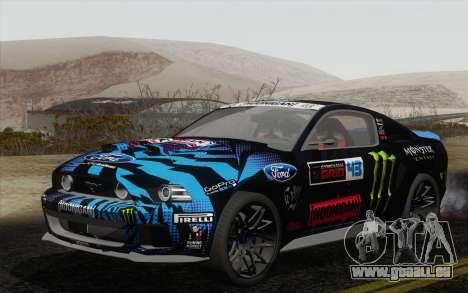 Ford Mustang GT 2013 für GTA San Andreas Rückansicht
