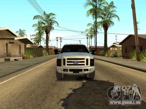 Ford Excursion pour GTA San Andreas vue arrière