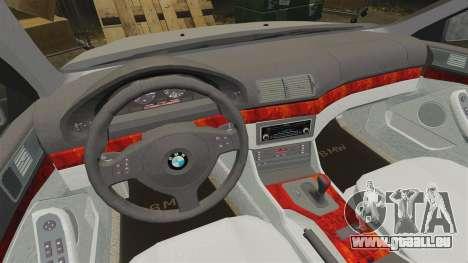BMW 525i (E39) pour GTA 4 est une vue de l'intérieur