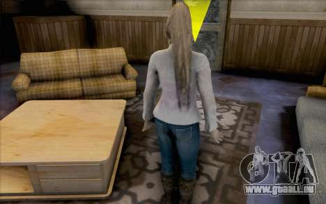 Sarah de Dead or Alive 5 pour GTA San Andreas quatrième écran