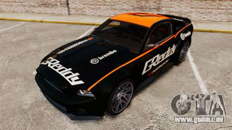 Ford Mustang GT 2013 NFS Edition pour GTA 4 Salon