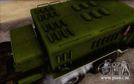 MAZ 535 nouveau pour GTA San Andreas vue de droite