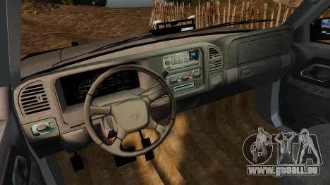 Chevrolet Suburban 1999 Police [ELS] für GTA 4 Rückansicht