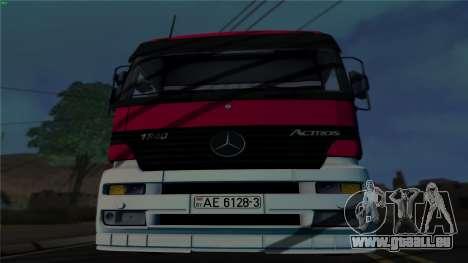 Mercedes-Benz 1840 pour GTA San Andreas laissé vue