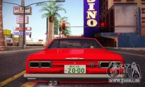Nissan Skyline 2000GTR 1967 Hellaflush für GTA San Andreas Innenansicht