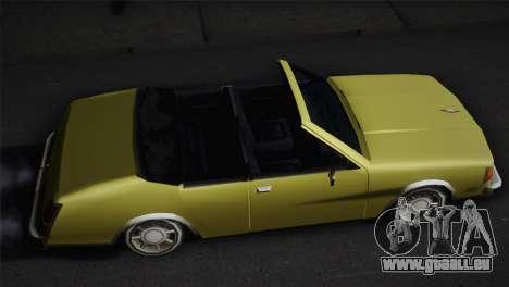 2 portes cabriolet, Washington pour GTA San Andreas sur la vue arrière gauche