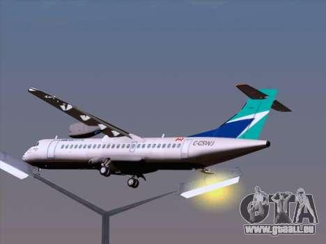 ATR 72-500 WestJet Airlines pour GTA San Andreas salon