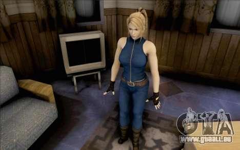 Sarah de Dead or Alive 5 pour GTA San Andreas deuxième écran