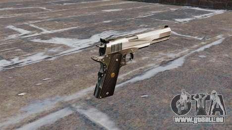 Le pistolet semi-automatique AMT Hardballer pour GTA 4 secondes d'écran