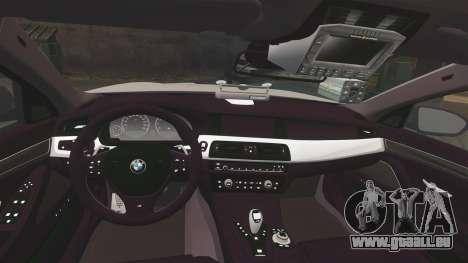 BMW M5 Unmarked Police [ELS] für GTA 4 Seitenansicht