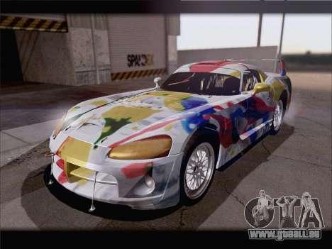 Dodge Viper Competition Coupe pour GTA San Andreas vue de dessous