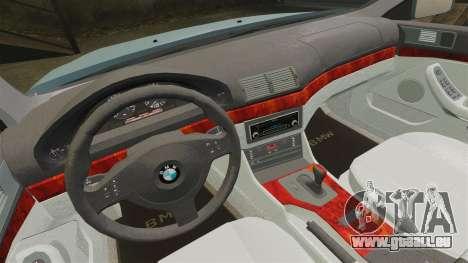 BMW 525i (E39) für GTA 4 Innenansicht