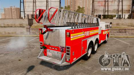 MTL Firetruck MDH1000 Midmount Ladder FDNY [ELS] pour GTA 4 Vue arrière de la gauche