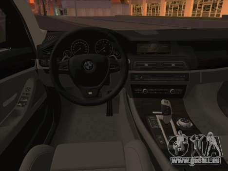 BMW M5 F11 Touring für GTA San Andreas Unteransicht