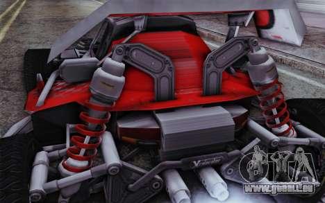 XCelerator Buggy XL pour GTA San Andreas sur la vue arrière gauche
