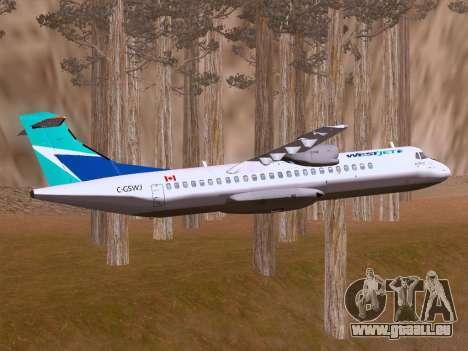 ATR 72-500 WestJet Airlines pour GTA San Andreas vue intérieure