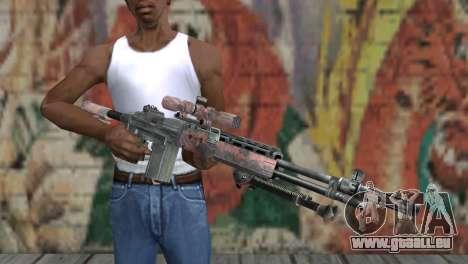 M14 EBR Red Tiger pour GTA San Andreas troisième écran