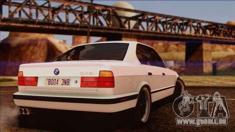 BMW 535i E34 Mafia Style pour GTA San Andreas salon
