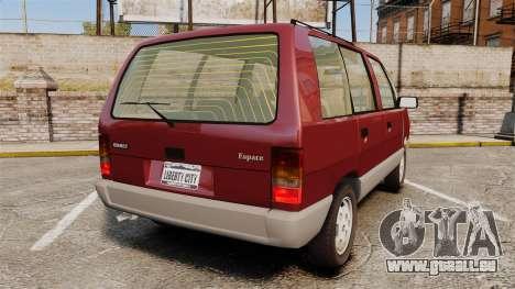 Renault Espace I 2000 TSE pour GTA 4 Vue arrière de la gauche