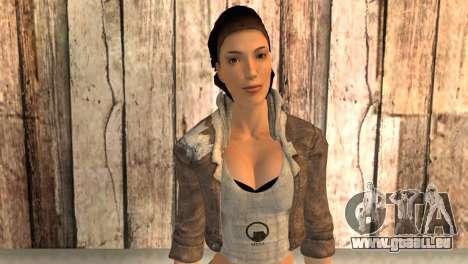 Alyx Vance de Half Life 2 pour GTA San Andreas troisième écran