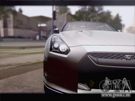 Nissan GT-R Spec V Stance pour GTA San Andreas sur la vue arrière gauche