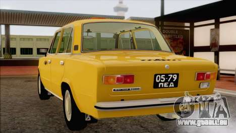 Taxi VAZ 21011 pour GTA San Andreas vue de dessous