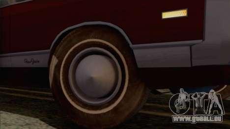 Chrysler New Yorker 4 Door Hardtop 1971 pour GTA San Andreas vue de côté