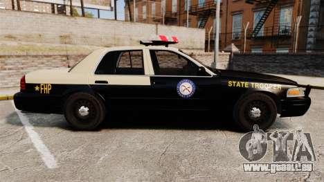 Ford Crown Victoria 1999 Florida Highway Patrol pour GTA 4 est une gauche