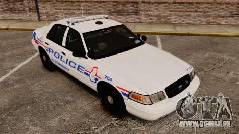 Ford Crown Victoria 2008 LCPD Patrol [ELS] pour GTA 4 est un côté