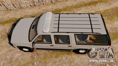 Chevrolet Suburban 1999 Police [ELS] für GTA 4 rechte Ansicht