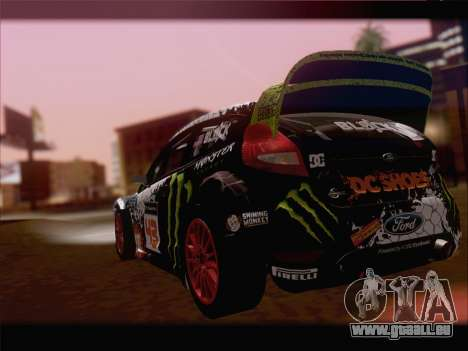 Ford Fiesta RS WRC 2013 für GTA San Andreas Rückansicht