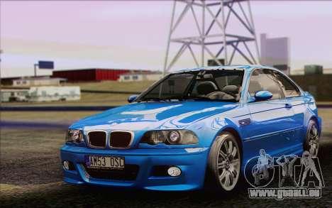 BMW M3 E46 2005 pour GTA San Andreas laissé vue