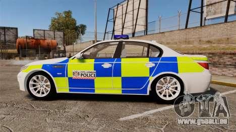 BMW M5 E60 City Of London Police [ELS] für GTA 4 linke Ansicht