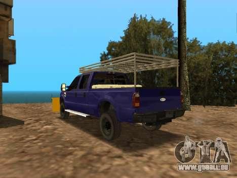 Ford F-250 pour GTA San Andreas sur la vue arrière gauche