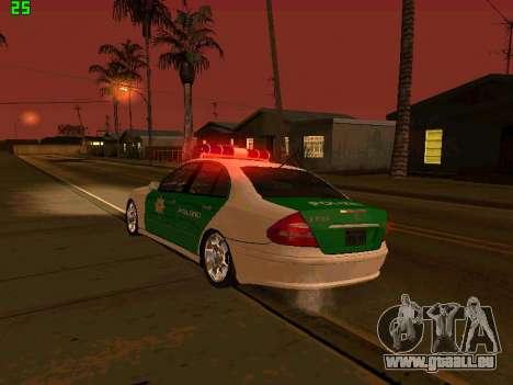 Mercedes-Benz  E500 Polizei pour GTA San Andreas vue de côté