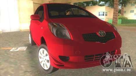 Toyota Yaris pour GTA Vice City vue arrière