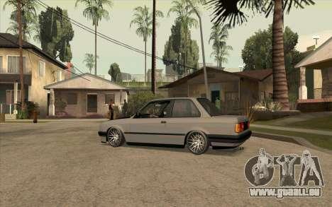 BMW E30 Stance für GTA San Andreas linke Ansicht