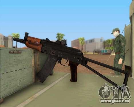 AKS-74U pour GTA San Andreas troisième écran