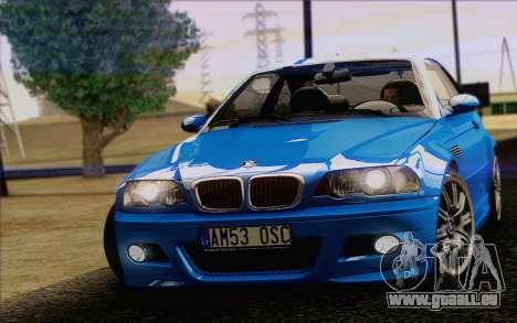 BMW M3 E46 2005 für GTA San Andreas rechten Ansicht