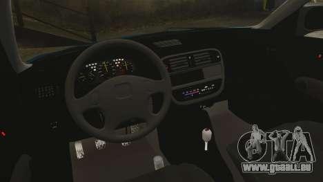 Honda Civic EK pour GTA 4 est une vue de l'intérieur