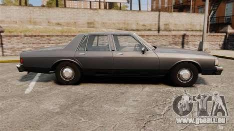 Chevrolet Caprice 1989 v2.0 pour GTA 4 est une gauche