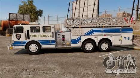 MTL Firetruck MDH1000 Midmount Ladder [ELS] für GTA 4 linke Ansicht