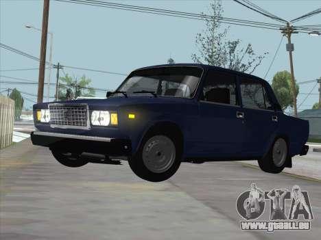 ВАЗ 21074 pour GTA San Andreas laissé vue